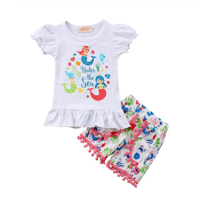 Under the sea 2 piece set-outfit-Lavendersun