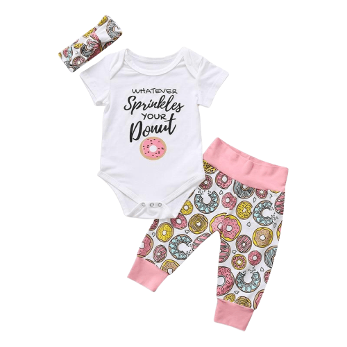 Whatever Sprinkles Your Donut Baby Outfit