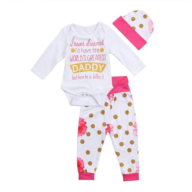 World's Greatest Daddy 3 Piece Set-outfit-Lavendersun