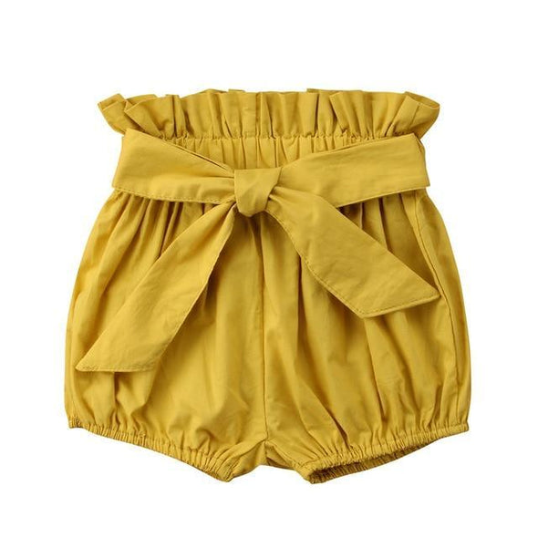 Yellow Bow Short-pant-Lavendersun
