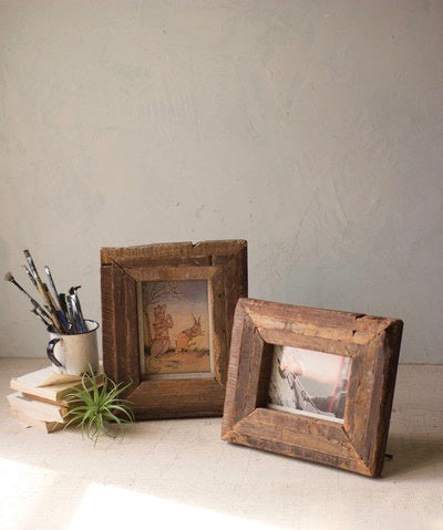 Recycled Wood Photo Frames (2 sizes)