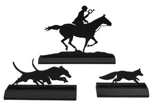 Full Cry Fox Hunting Wood Silhouettes