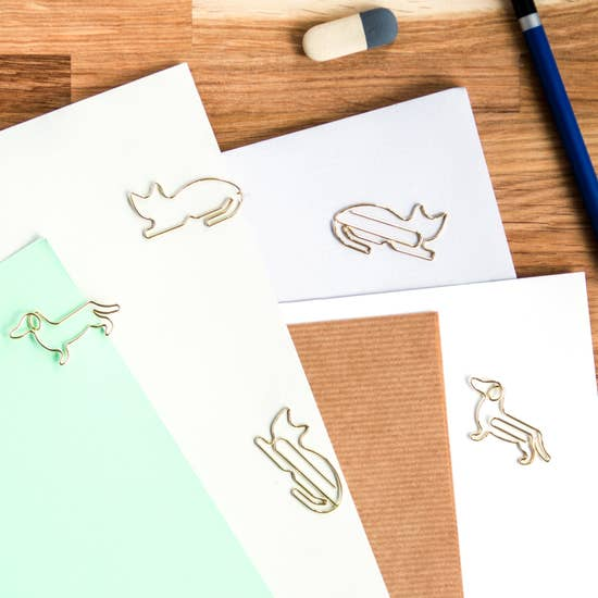 Cat & Dog Paper Clips