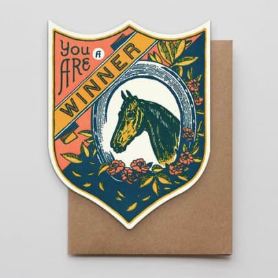 Winner Horse Badge Card
