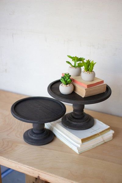 Black Wood Pedestal (Large)