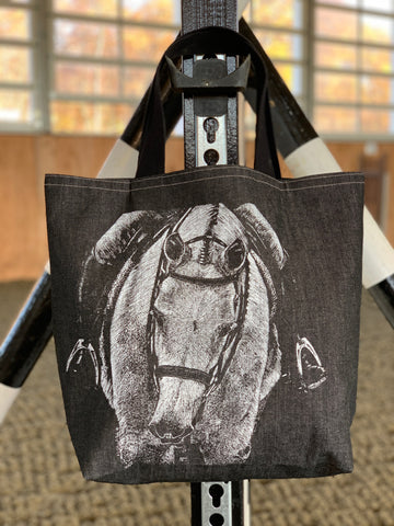 SLT Equestrian Denim Tote Bag