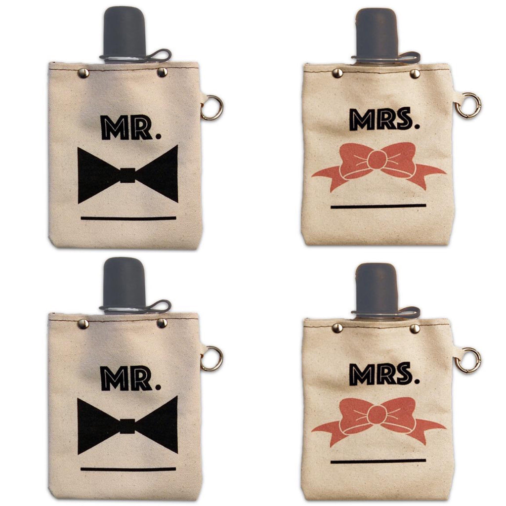 Mr. & Mrs. 8 oz Flasks