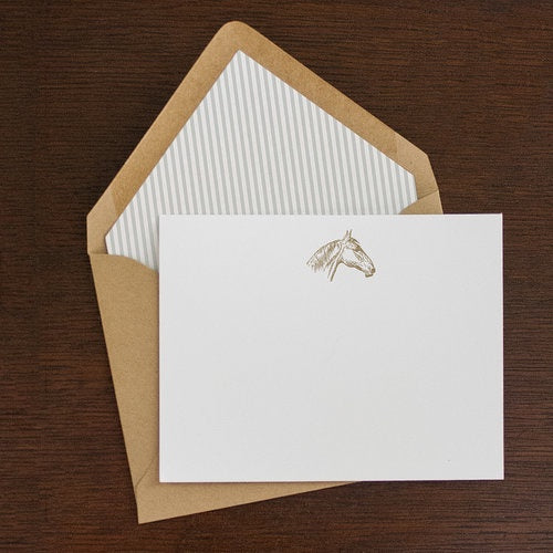 Horse Head Note Card Set