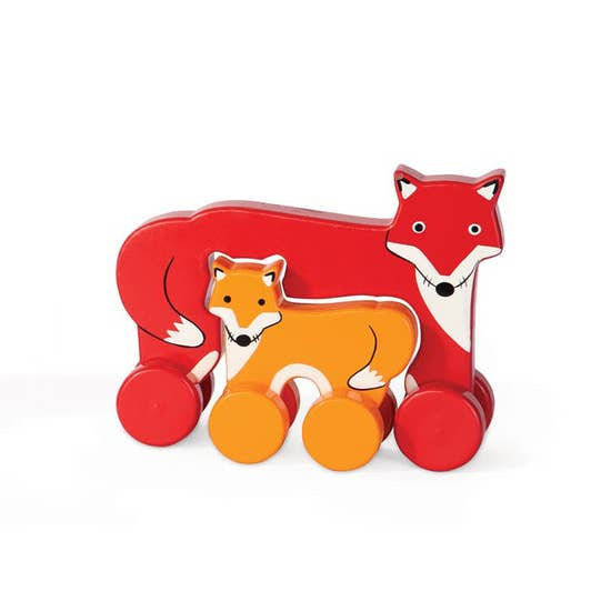 Fox & Horse Wooden Push Toy
