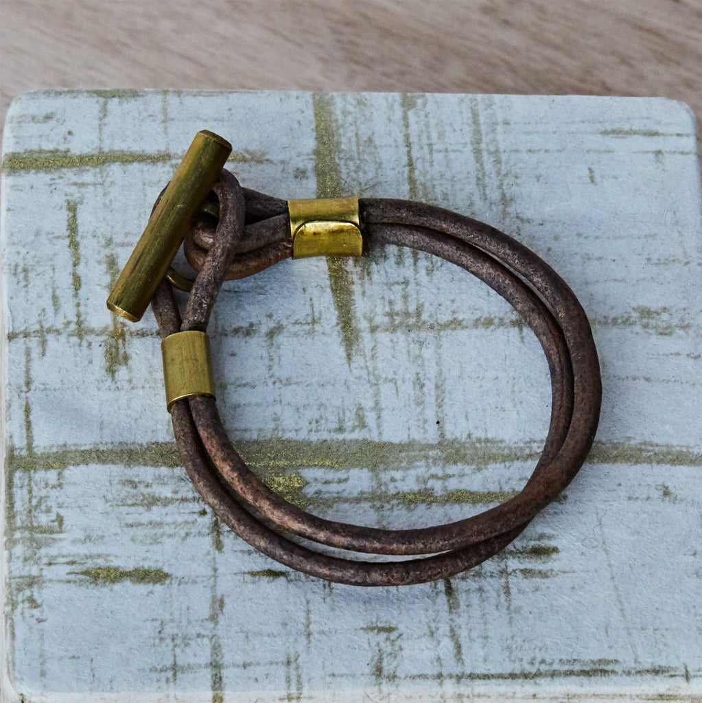 Leather Toggle Bracelet