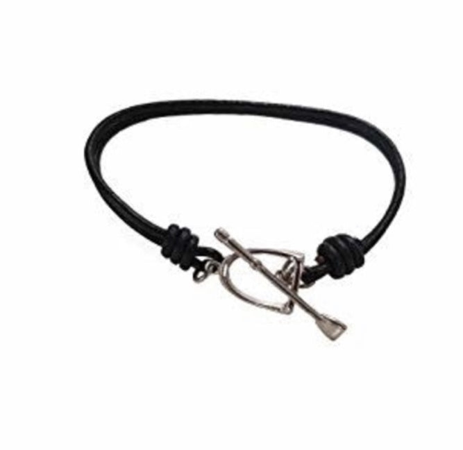 Leather Stirrup Bracelet