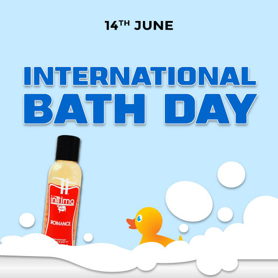 International bath day celebrate with Wet Romance Bath gel