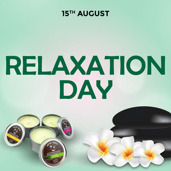 Celebrate Relaxation day with Earthly Body massage candles