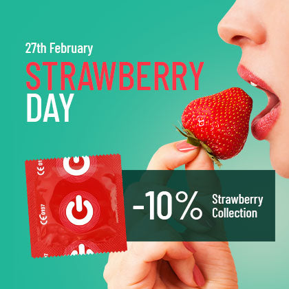 strawberry day discount for strawberry flavored condoms and lubricants