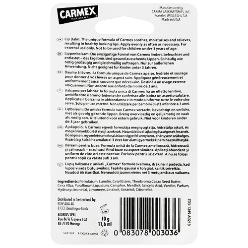 Carmex Tube 10g back