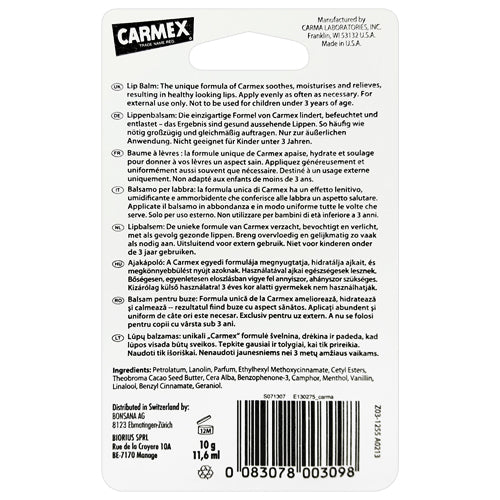 Carmex Tube Cherry 10g back