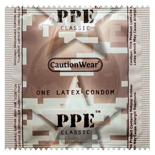 Caution Wear PPE Classic Condoms | WorldCondoms