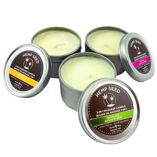 earthly body 3 in 1 massage candle trio