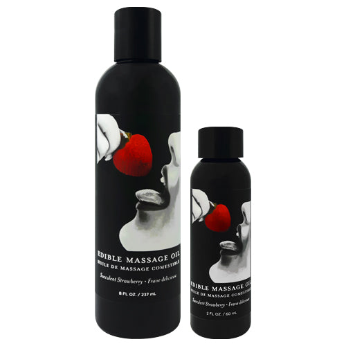 Earthly Body Strawberry Edible Massage Oil
