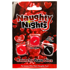 Naughty Nights Raunchy Dare Dice Game front
