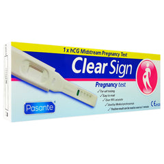 Clear Sign Pregnancy Test Midstream