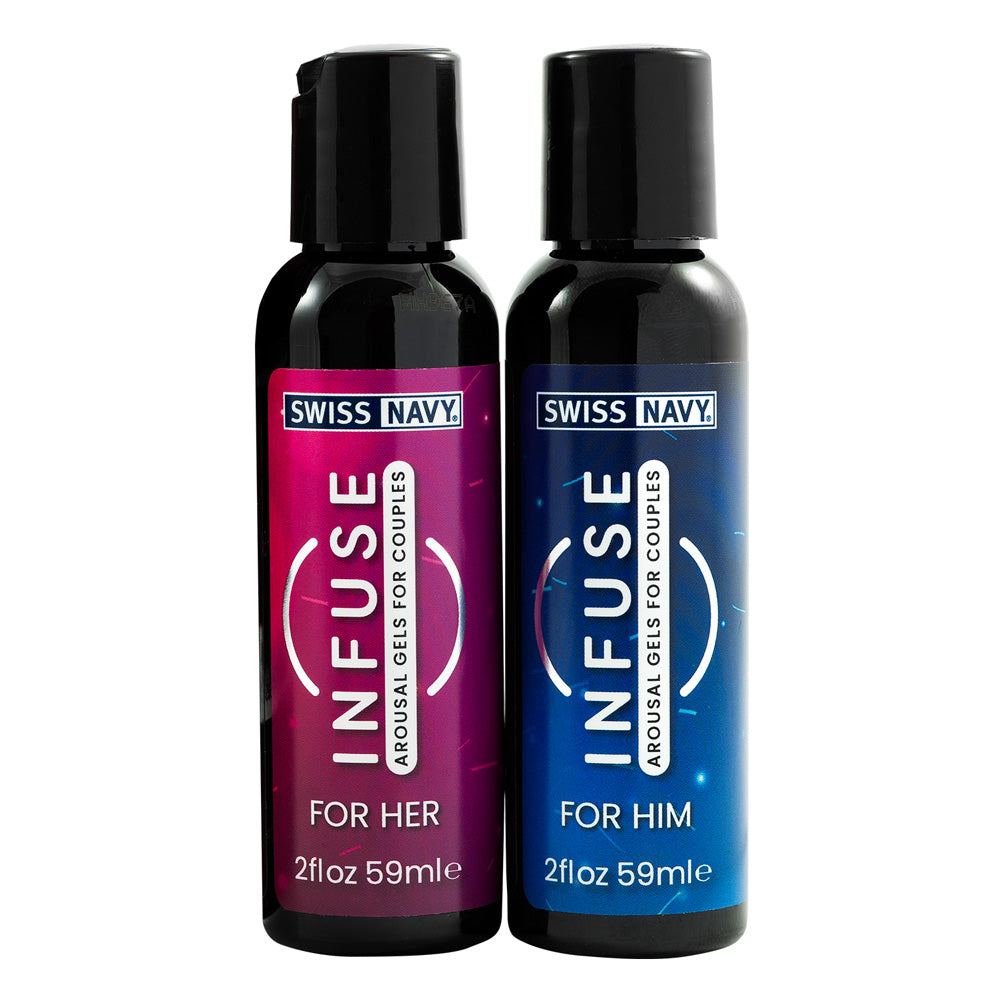 Swiss Navy Infuse Arousal Gels for Couple Play 2x59ml