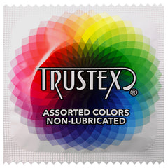 Trustex Assorted Colors Non-Lubricated