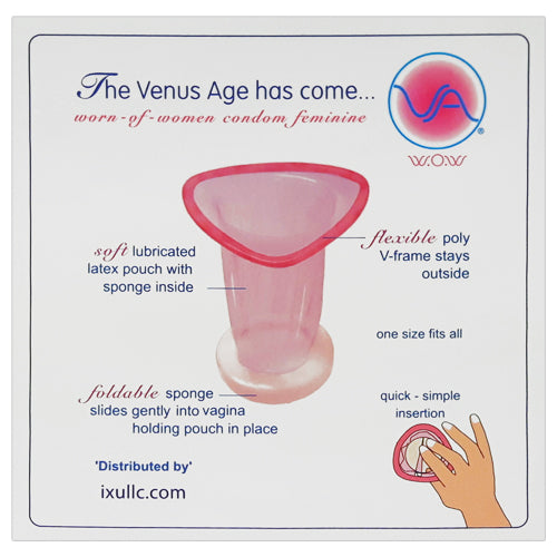 VA W.O.W female condom Box 3 back