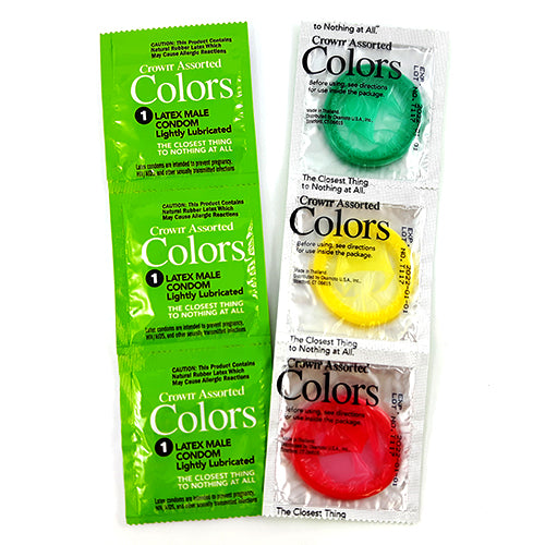 crown assorted colors condoms 12 PCS