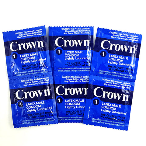 crown lightly lubricated condoms 12 PCS