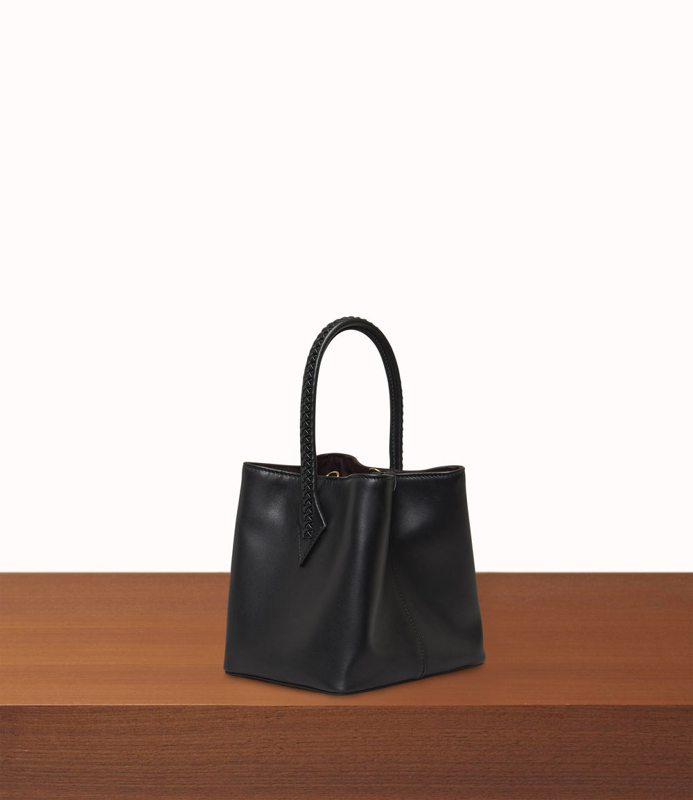 Perriand Mini Atelier Calfskin Black