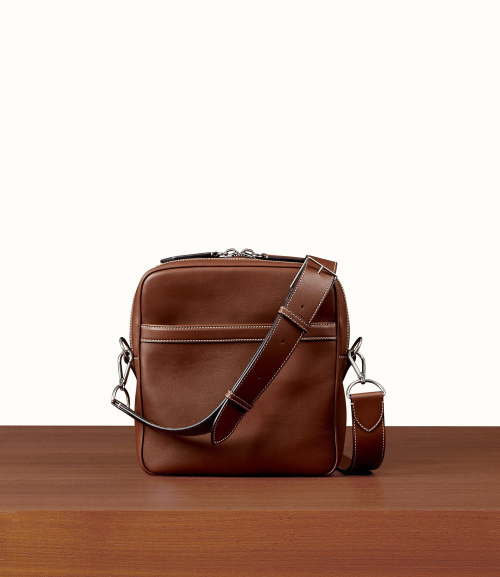 Wanderer Cross Body Soft Grained Calfskin Cuban