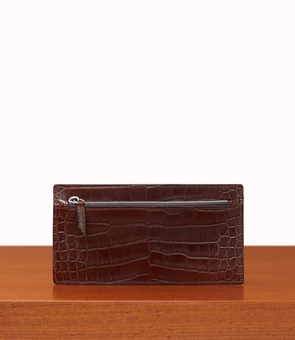 Inside Out Wallet Crocodile Maduro