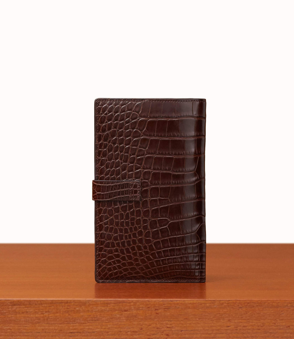 Travel Wallet Crocodile Maduro