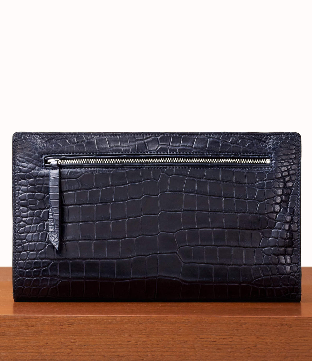 Runaway II Essentials Shoulder Bag Crocodile Royal Navy