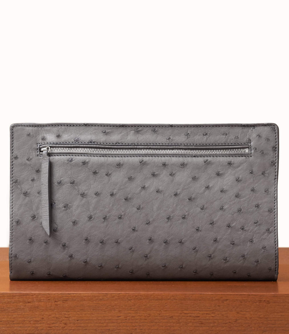 Runaway II Essentials Shoulder Bag Ostrich Caviar Grey