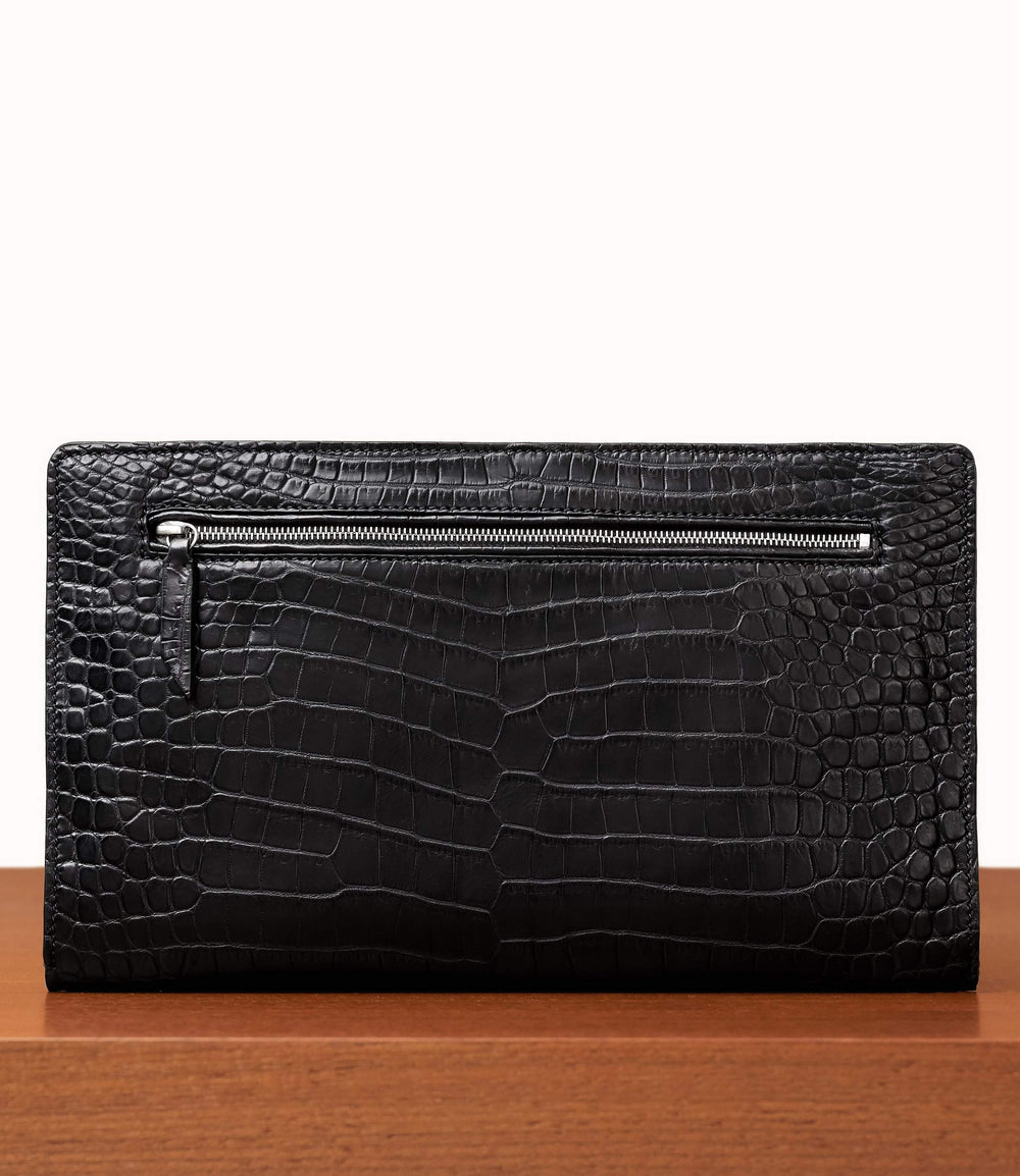 Runaway I Essentials Portfolio Crocodile Black