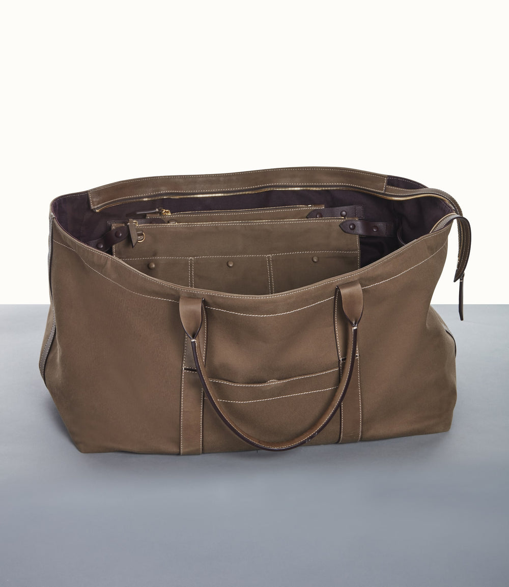 Rousseau Carryall Bag Military Canvas Mushroom
