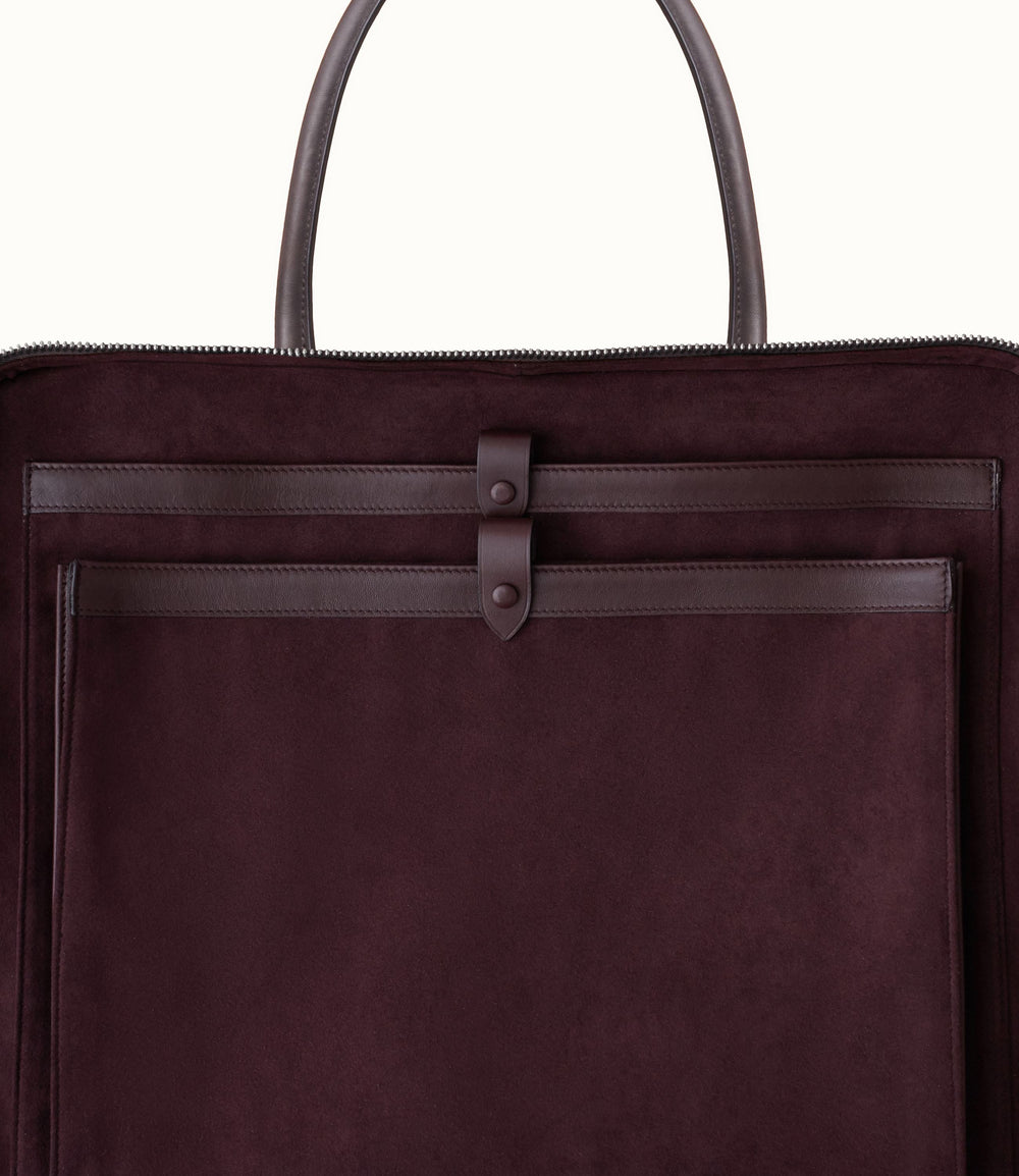 Le Petit Voyage Overnight Briefcase Natural Calfskin Cafe