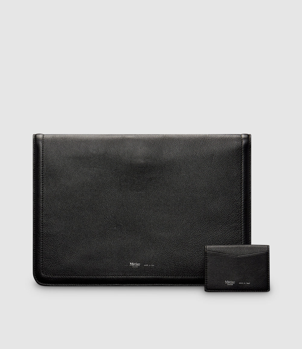 Metropolitan Laptop Case and Multi Card Case Buffalo Black