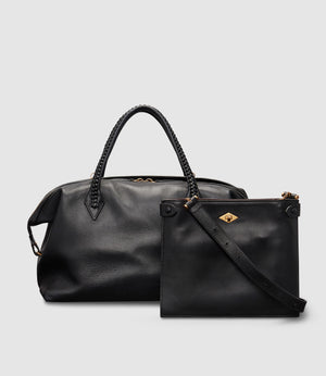 Perriand City and Stowaway Crossbody Atelier Calfskin Black