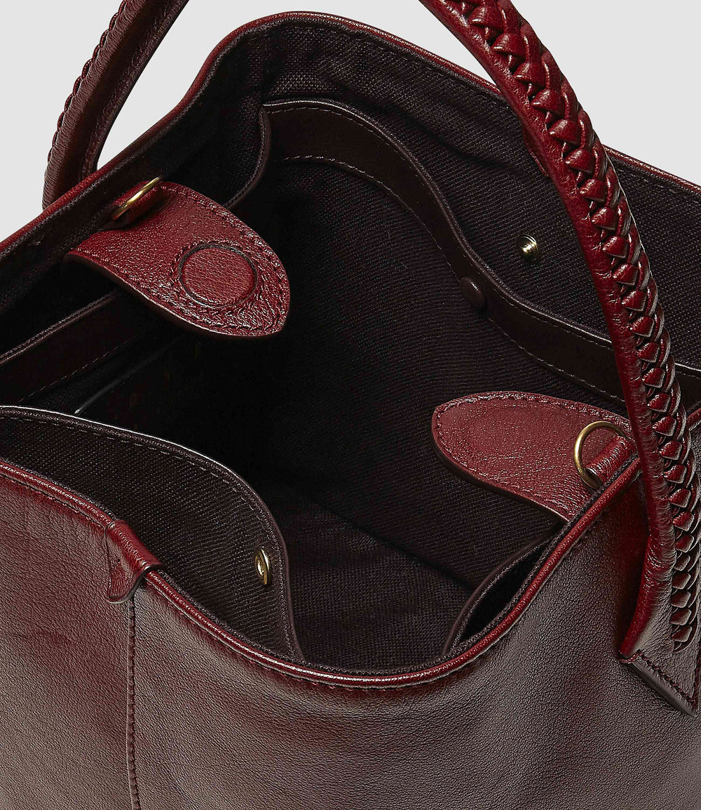 Perriand Mini Collapsible Tote Bag Buffalo Dark Cherry