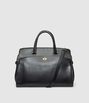 Private Eye Bag with Shoulder Strap Atelier Calfskin Black