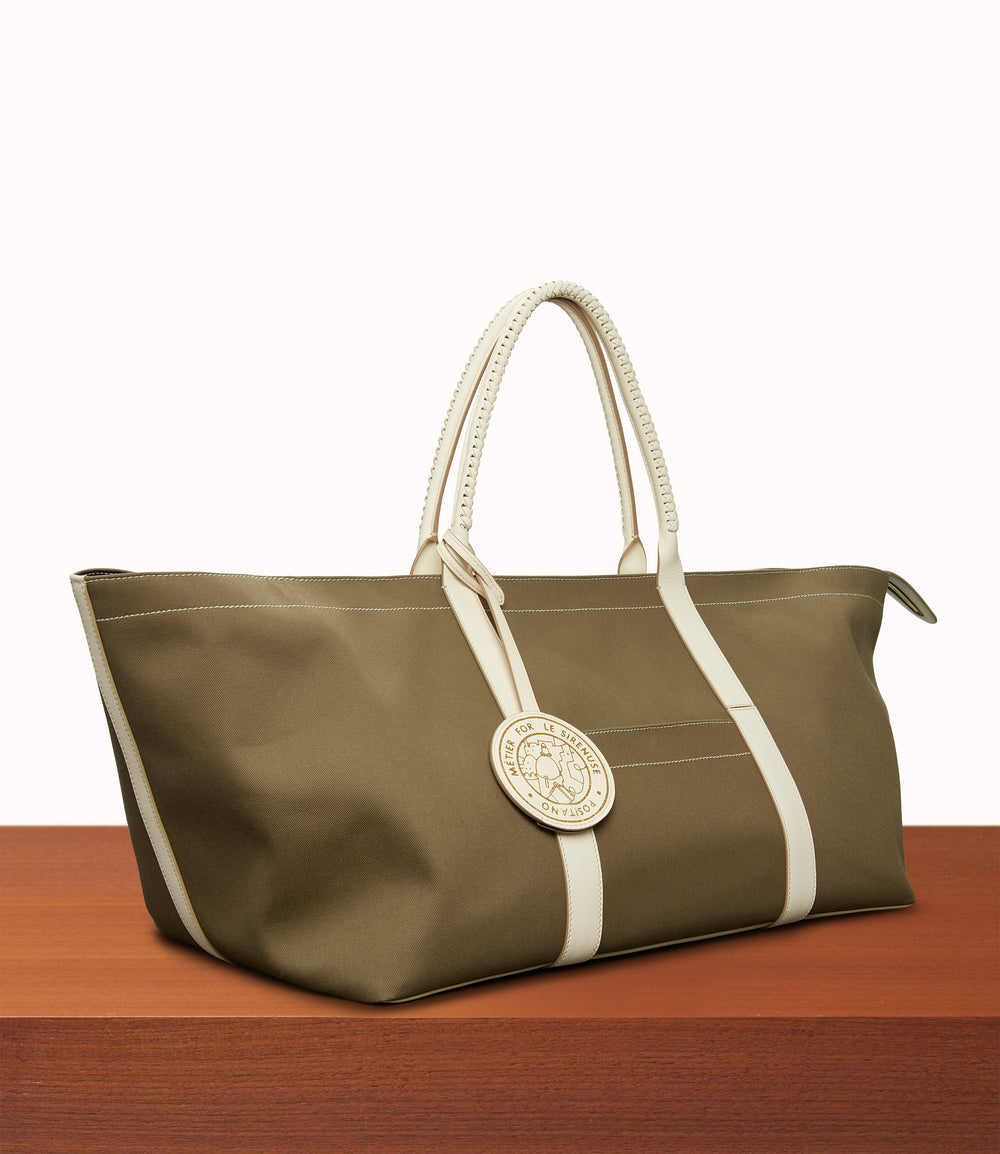 Rousseau Carryall Bag Military Canvas Mushroom/White Sand