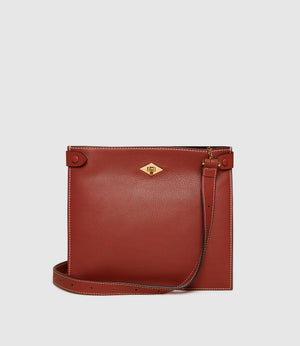 Stowaway Crossbody Smooth Calfskin Sienna