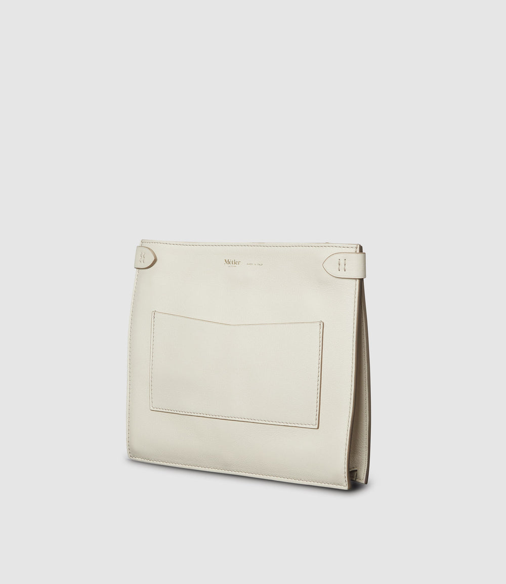 Stowaway Crossbody Smooth Calfskin White Sand