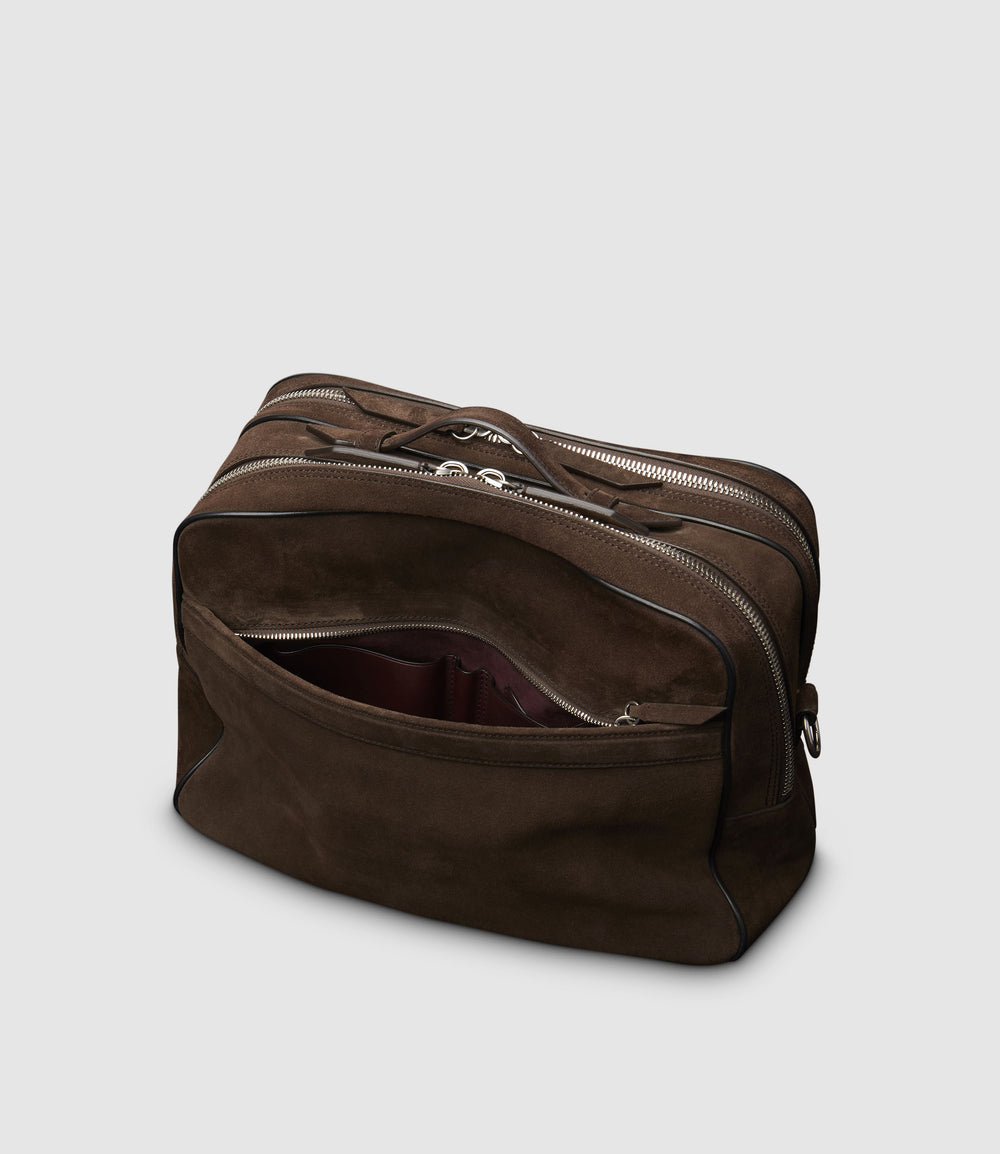 Wanderer Messenger Bag Suede Chocolate