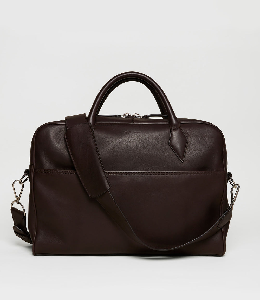 Closer Slim Briefcase Natural Calfskin Cafe