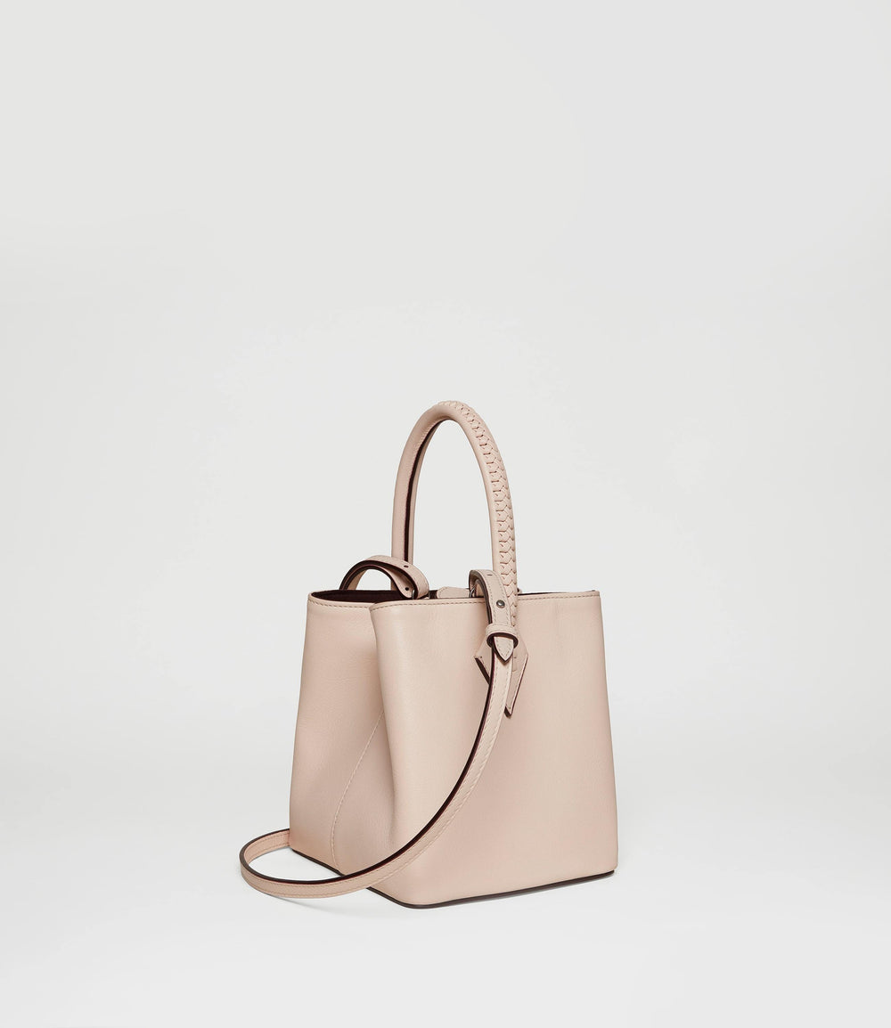 Perriand Mini Collapsible Tote Bag Smooth Calfskin Blush