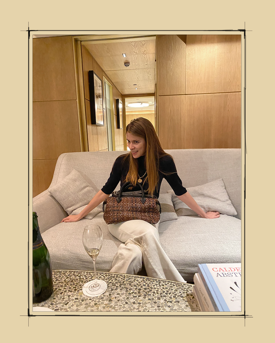 """""""A Métier meeting is always a party and a métier bag is always a ready and timeless companion en route to anywhere! Can't wait to get on a train, plane or electronic scooter with mine again..."""" - Monica Ainley, Journalist, Influencer"""